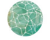 Fine Art Print-Teal Constellations