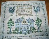 1991 Vintage Linen Calendar Towel Works for 2013- Kitchen Prayer