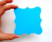 24 Square Bracket cards, bracket die cut,  ( 3.5 X 3.5 inches) in Textured Cardstock, choose your color  A549