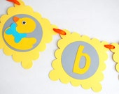 ON SALE Duck BABY Banner, Baby shower  Baby party banner, rubber ducky banner  A685