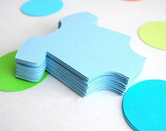 32 Baby Blue baby bodysuit die cut (3.5 x 3.5 inches) Textured Cardstock die cut  A706