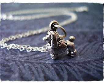 Tiny Poodle Necklace - Sterling Silver Poodle Charm on a Delicate Sterling Silver Cable Chain or Charm Only