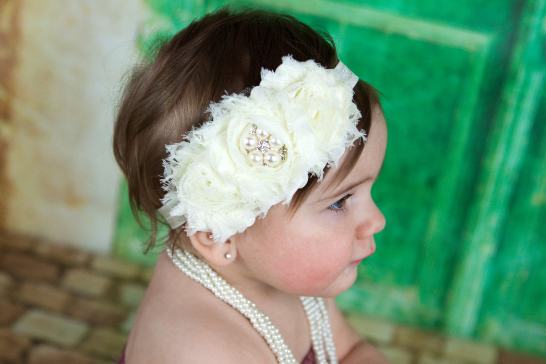 Flower Girl Headband Ivory Flower Girl Headband Ivory Flower