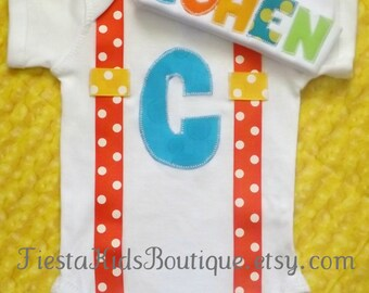 Coming home outfit boy, baby boy outfit, infant boy clothes, baby hat with name, baby suspenders