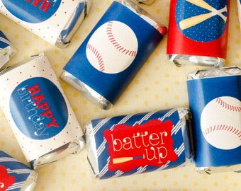 Baseball Party PRINTABLES Mini Candy Wrappers (INSTANT DOWNLOAD) from Love The Day
