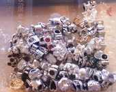 20 Mega Mix Metal Mixed Large Hole  Beads fit European Jewelry