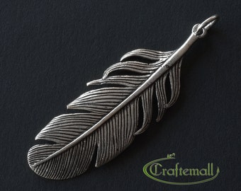 1 Sterling Silver Feather Pendant - cpd023