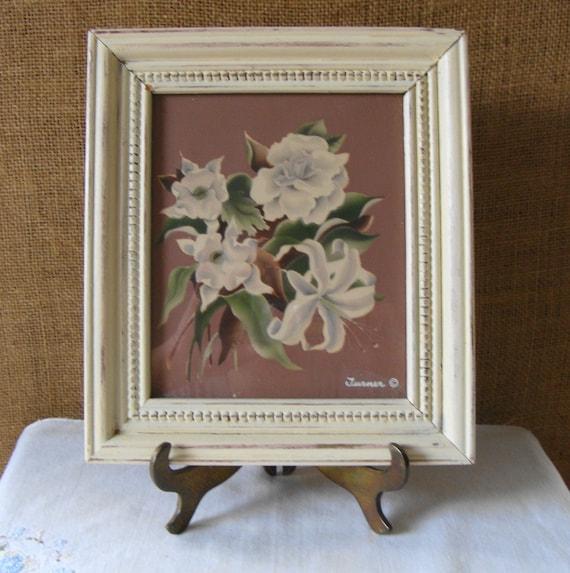 Vintage Turner Floral Botanical Airbrush Print Art Deco 1940s