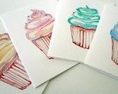 Cupcake Art Notecards (Ed. 2), Set of 8 Cupcake Cards