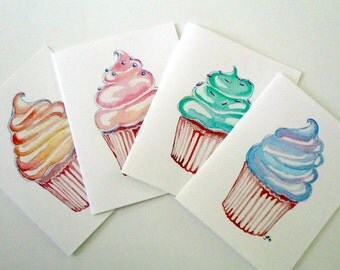Cupcake Art Notecards (Ed. 2) , Set of 12