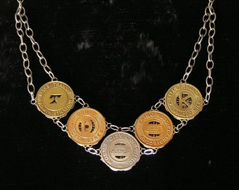 Vintage Transit Token Necklace