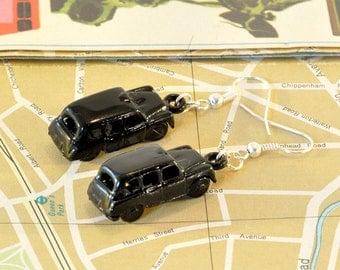 Black Taxi Cab Earrings, London Earrings, Car Jewellery