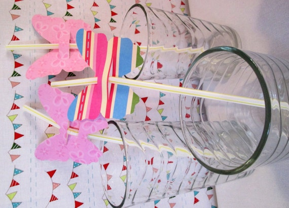 Straw Favors for Wedding Bridal or Baby Shower Birthday Party Bar Mitzvah Fourth of July or a BBQ