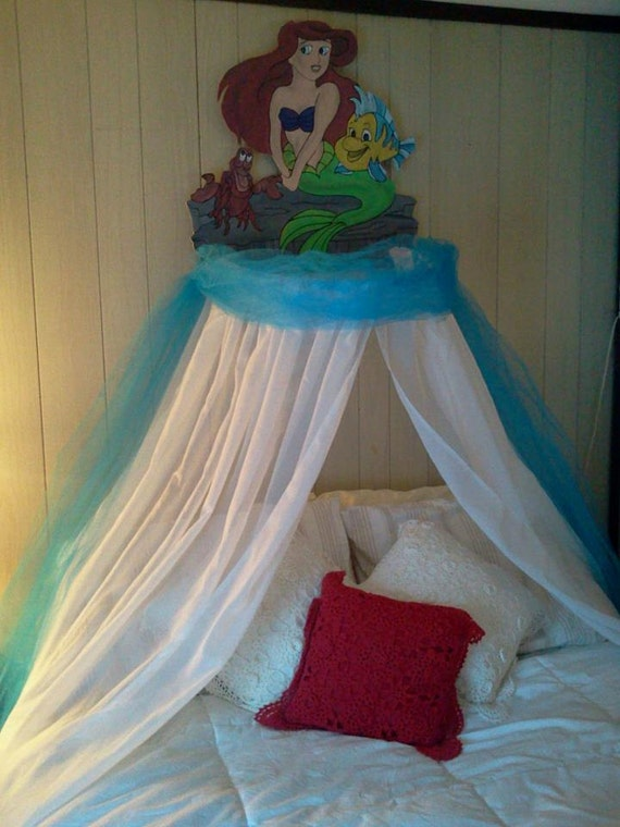 items similar to the little mermaid ariel childrens bedroom canopy for
