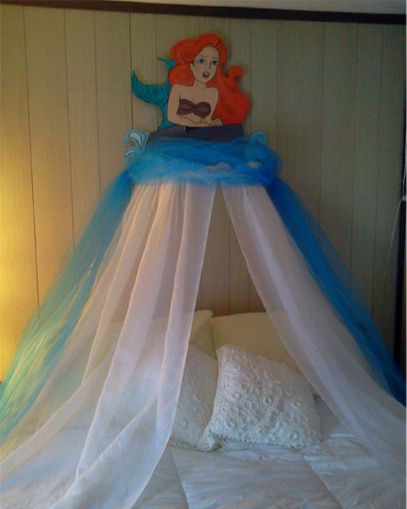 items similar to the little mermaid childrens bedroom canopy on etsy