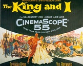 Magnet- The King and I movie poster Yul Brynner Deborah Kerr