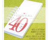 40 30 20 50 Things I Love About You Birthday Anniversary Engagement Deployment . Romantic Coupon Book Mini Album . Boyfriend Girlfriend