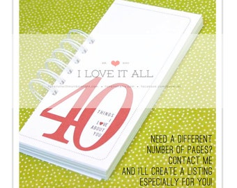 Things We Love About You Birthday Anniversary Engagement Deployment . Romantic Coupon Book Mini Album Gift Him 20 30 40 50 55 60 70 75