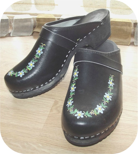 Hand Painted Clogs Sweden