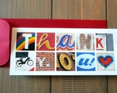 Thank You Card - Photo Letters - Set of 5