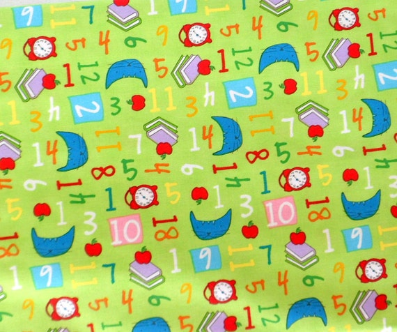 Children 39 s fabric numbers fabric green pixie pops for Children s material sewing