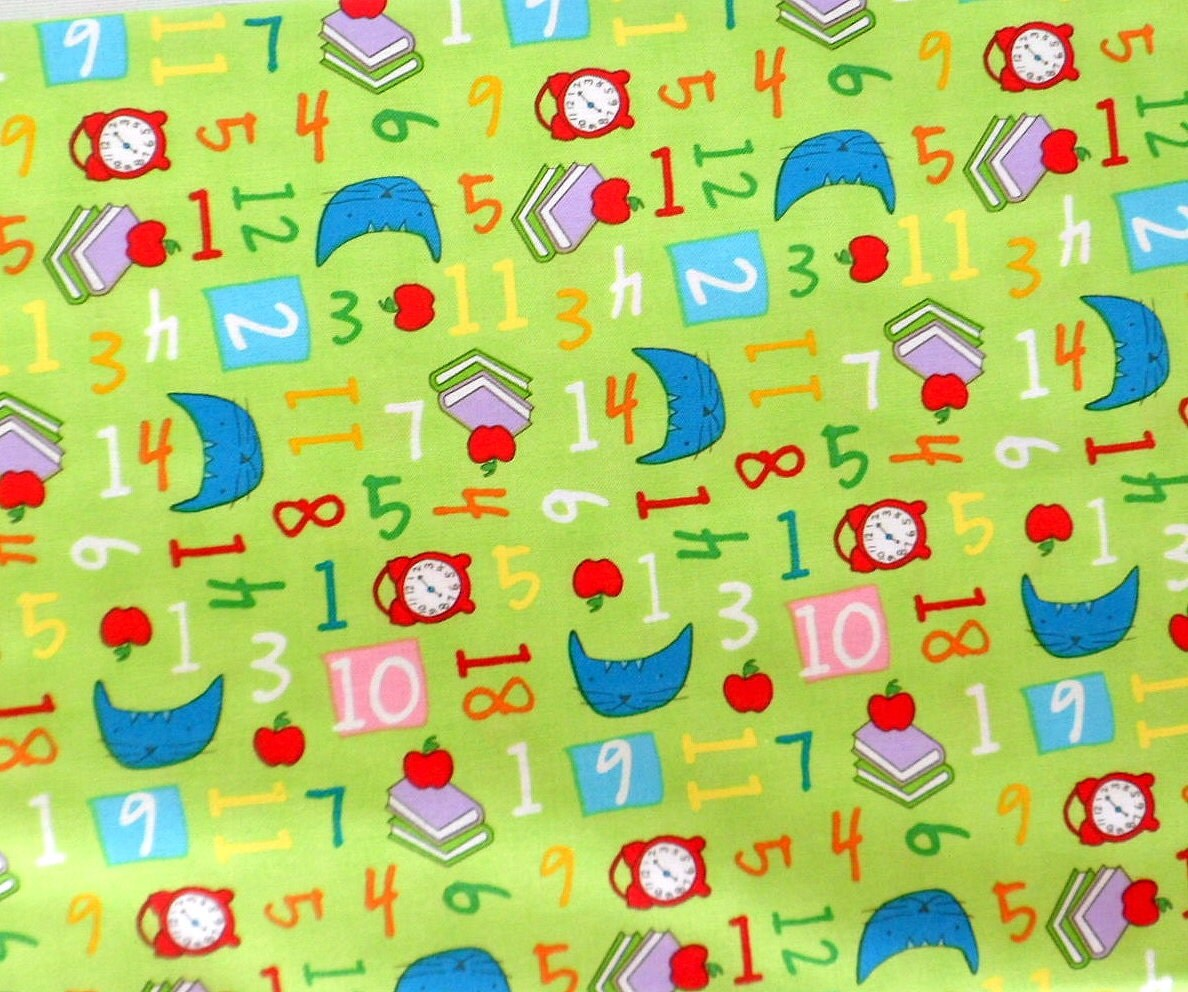 Children 39 s fabric numbers fabric green pixie pops for Children s material