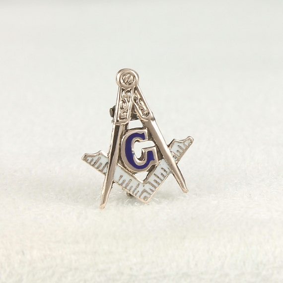 Masonic Antique Lapel Pin - Sterling Silver