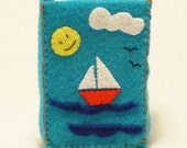 Cigarette Felt Case, Summertime, Nautical accesories, Felt pouch, Handmade by Marumadrid