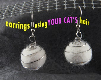 ONE Orb Earrings using YOUR CAT'S hair