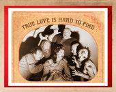 Love Card, Funny Cards, True Love, Valentine Card, Geek Love, Vintage Cards, Horror movie, scream queen, Geekery, Alternate Histories