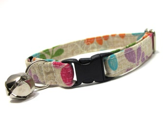 Cat Collar...Colorful Vines and Leaves