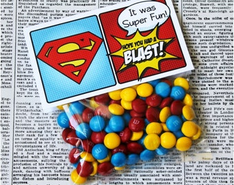 "Superhero Collection. Favor Tag (5"" wide fold over). DIGITAL DOWNLOAD. DiY Printable Design. Pinkadot Shop"