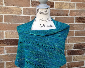 Knitted Shawl Pattern Diagonal Wrap Knitting Lightweight Scarf, Beginner Stole Prayer Shawl DIY Christmas Gift