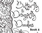 DOWNLOAD -Abstract Doodles Coloring Book 6 (Butterfly & Dragonfly)