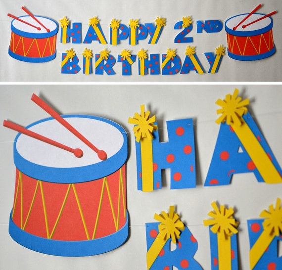 Baby Boy First Birthday Music Party BANNER Party