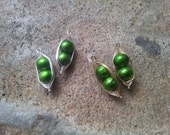 Two Peas in a Pod Wire Wrapped Earrings