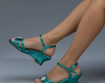 Wedding Shoes - 120 Custom Colors- Women's PB101.75 Bridal Wedge Shoes