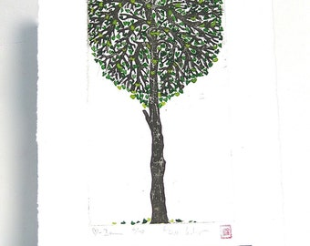 Heart-Tree - Original Etching