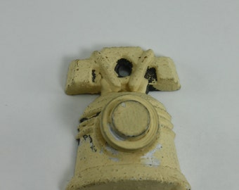 Vintage Architectural Salvage Doorbell Shaped Like Liberty Bell