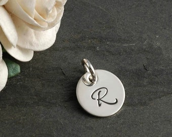 Add a Charm - 11mm Initial Charm - Sterling Silver, Rose Gold Filled, or Gold Filled