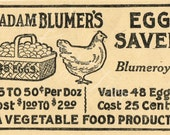 Digital Download Antique Grocery Egg Advertisement for Papercrafts, Transfers, Pillows, Scrapbooks, and more.
