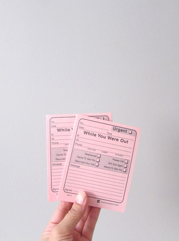 50 sheets // while you were out pink note pad // memo // message writing pad