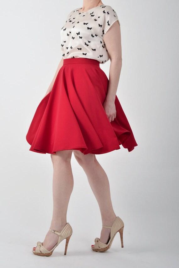 custom made circle skirt circle skirt knee length skirt