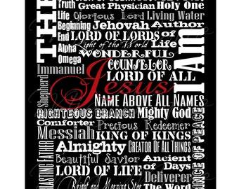 Jesus Is... - Digital Printable Subway Art, 8 x 10, Customizable (Colors, Names, etc.)
