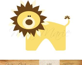 INSTANT DOWNLOAD - Digital Clip Art  Lion clipart, Lion clip art, zoo clip art, zoo clipart, safari clip art, safari clipart, animal, baby