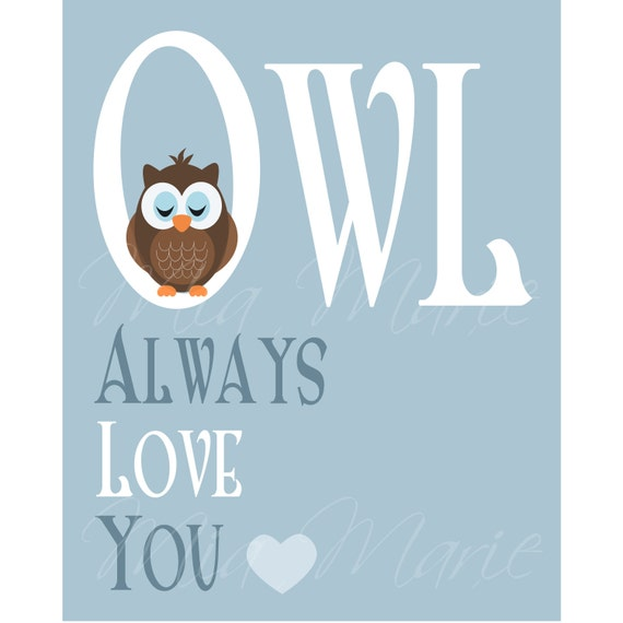 INSTANT DOWNLOAD Digital Art Print Owl Always Love by ...