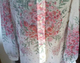 "sheer floral explosion """" sheer vintage sheath dress """" ON SALE"