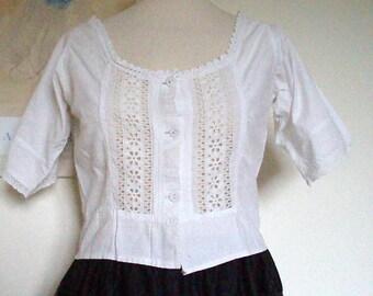 White Cotton Camisole Edwardian Women's