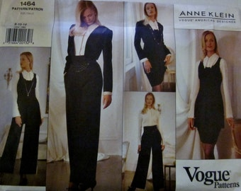 Vogue 1464  Anne Klein 90s Jacket Tunic Blouse Skirt Pants Sewing Pattern Bust 31 32 34