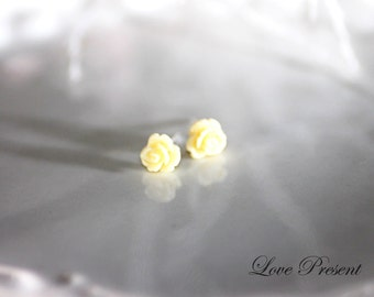 Cutie Sweet Teeny Tiny Rose Cartilage Earrings Stud Post - Small. Little. Mini. Petite Earrings - Choose your color